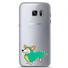 "Samsung Galaxy S7 edge TPU dėklas unikaliu dizainu 1.0 mm ""u-case Airskin Doggo 4 design"""