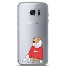 "Samsung Galaxy S6 edge TPU dėklas unikaliu dizainu 1.0 mm ""u-case Airskin Doggo 5 design"""