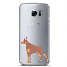 "Samsung Galaxy S6 TPU dėklas unikaliu dizainu 1.0 mm ""u-case Airskin Doggo 6 design"""