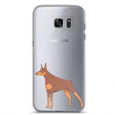 "Samsung Galaxy S7 edge TPU dėklas unikaliu dizainu 1.0 mm ""u-case Airskin Doggo 6 design"""