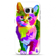 "Samsung Galaxy S6 edge TPU dėklas unikaliu dizainu 1.0 mm ""u-case Airskin Kitty design"""