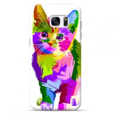 "Samsung Galaxy S7 edge TPU dėklas unikaliu dizainu 1.0 mm ""u-case Airskin Kitty design"""