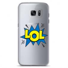 "Samsung Galaxy S7 Edge TPU dėklas unikaliu dizainu 1.0 mm ""u-case Airskin LOL design"""