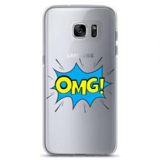 "Samsung Galaxy S7 Edge TPU dėklas unikaliu dizainu 1.0 mm ""u-case Airskin OMG design"""