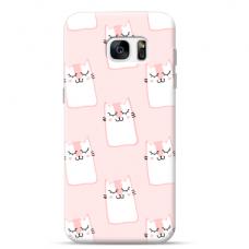 "Samsung Galaxy S6 edge TPU dėklas unikaliu dizainu 1.0 mm ""u-case Airskin Pink Kato design"""