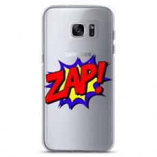 "Samsung Galaxy S6 edge TPU dėklas unikaliu dizainu 1.0 mm ""u-case airskin ZAP design"""