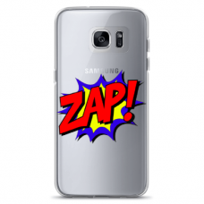"""Samsung Galaxy S7 TPU dėklas unikaliu dizainu 1.0 mm """"u-case airskin ZAP design"""""""