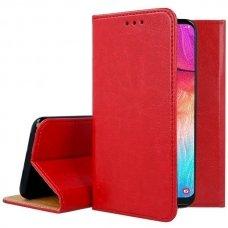Huawei P30 lite ATVERČIAMAS DĖKLAS BOOK SPECIAL TIKRA ODA raudonas