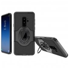 Samsung galaxy S9 dėklas Ipaky feather TPU + PC PLASTIKAS JUODAS