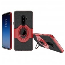 Samsung galaxy S9 dėklas Ipaky feather TPU + PC PLASTIKAS RAUDONAS