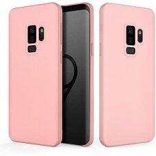 """Samsung galaxy s9 dėklas """"Liquid silicon""""  silikonas rožinis"""
