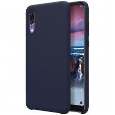 Huawei P20 dėklas Nillkin Flex PURE minkštas silikonas mėlynas