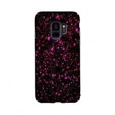 samsung galaxy s9 dėklas nugarėlė splash tpu juodas-rožinis