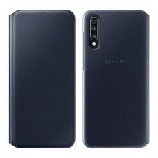 """Samsung Galaxy A70 originalus išmanus atverčiamas dėklas """"Wallet Cover"""" juodas"""