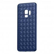 """Samsung Galaxy S9 Pintos Tekstūros Tpu Dėklas """"Baseus Bv Weaving"""" mėlynas"""