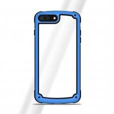"""Samsung Galaxy S9 Plastikinis Dėklas Tpu Kraštais """"Solid Frame"""" mėlynas"""