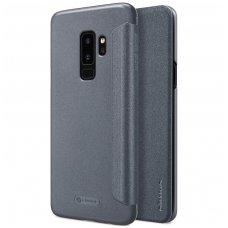 Samsung galaxy s9 plus Atverčiamas dėklas Nillkin Sparkle PC plastikas ir PU oda  juodas