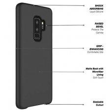 """Samsung galaxy s9 plus dėklas """"Liquid silicon""""  silikonas juodas"""