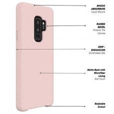 """Samsung galaxy s9 plus dėklas """"Liquid silicon""""  silikonas rožinis"""