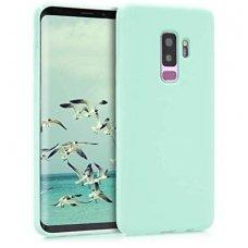 """Samsung galaxy s9 plus dėklas """"Liquid silicon""""  silikonas žalsvas"""