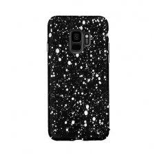 samsung galaxy s9 plus dėklas nugarėlė splash tpu juodas-baltas