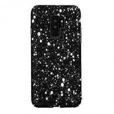 Akcija! samsung galaxy s9 plus dėklas nugarėlė splash tpu juodas-baltas
