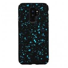 samsung galaxy s9 plus dėklas nugarėlė splash tpu juodas-mėlynas
