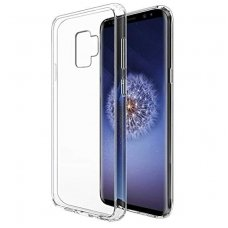 SAMSUNG GALAXY s9 plus DĖKLAS silikonas ULTRA SLIM 0,3MM PERMATOMAS