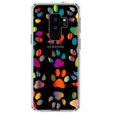 """Samsung Galaxy S9 plus TPU dėklas unikaliu dizainu 1.0 mm """"u-case Airskin PAW design"""""""