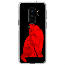 "Samsung Galaxy S9 plus TPU dėklas unikaliu dizainu 1.0 mm ""u-case Airskin Red Cat design"""