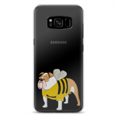 "Samsung Galaxy S8 TPU dėklas unikaliu dizainu 1.0 mm ""u-case Airskin Doggo 1 design"""