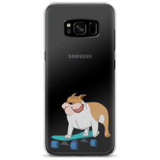 "Samsung Galaxy S8 TPU dėklas unikaliu dizainu 1.0 mm ""u-case Airskin Doggo 2 design"""