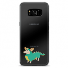 "Samsung Galaxy S8 TPU dėklas unikaliu dizainu 1.0 mm ""u-case Airskin Doggo 4 design"""