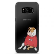 "Samsung Galaxy note 8 TPU dėklas unikaliu dizainu 1.0 mm ""u-case Airskin Doggo 5 design"""