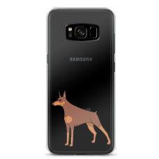 "Samsung Galaxy S8 TPU dėklas unikaliu dizainu 1.0 mm ""u-case Airskin Doggo 6 design"""