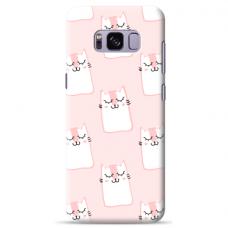 "Samsung Galaxy S8 plus TPU dėklas unikaliu dizainu 1.0 mm ""u-case Airskin Pink Kato design"""