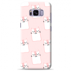 "Samsung Galaxy S8 TPU dėklas unikaliu dizainu 1.0 mm ""u-case Airskin Pink Kato design"""