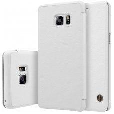 Samsung galaxy  NOTE 7 atverčiamas dėklas nillkin QIN tikros natūralios odos baltas