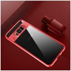 Samsung galaxy NOTE 8 dėklas rock Clarity skaidrus TPU IR PC PLASTIKAS raudonais kraštais