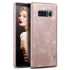 Samsung galaxy NOTE 8 dėklas X-LEVEL VINTAGE eko oda smėlinis