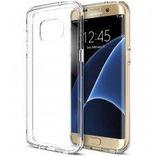 Samsung galaxy S6 EDGE dėklas Silikoninis Ultra Slim 0,3mm Permatomas