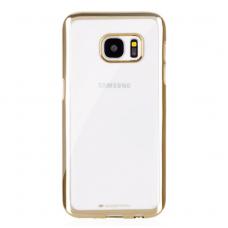 Samsung galaxy S6 EDGE PLUS dėklas MERCURY JELLY RING 2 silikonas AUKSO SPALVOS KRAŠTAIS