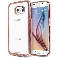 Samsung galaxy S6 EDGE PLUS dėklas MERCURY JELLY RING 2 silikonas ROŽINIAIS KRAŠTAIS