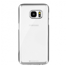 Samsung galaxy S6 EDGE PLUS dėklas MERCURY JELLY RING 2 silikonas SIDABRINĖS SPALVOS KRAŠTAIS