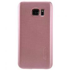 Samsung galaxy S6 EDGE PLUS dėklas nillkin Frosted PC plastikas rožinis
