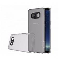 Samsung galaxy S8 dėklas Nillkin Nature TPU 0,6mm pilkas