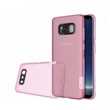 Samsung galaxy S8 dėklas Nillkin Nature TPU 0,6mm rožinis