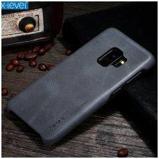 Samsung galaxy S9 dėklas X-LEVEL VINTAGE eko oda juodas
