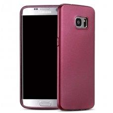 Samsung S6 galaxy EDGE dėklas X-LEVEL GUARDIAN Silikoninis 0,6mm Bordo