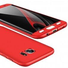 Akcija! Samsung S7 edge HURTEL dėklas dvipusis 360 plastikas raudonas